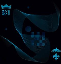 Slender 3d textile motif background curved stripy vector image