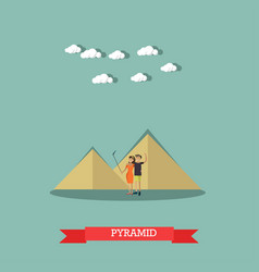 Trip to egypt pyramids concept flat style vector