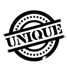 Unique rubber stamp vector image vector image