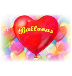 valentine background with balloons vector image