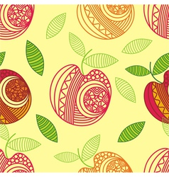 Apple seamless pattern background vector