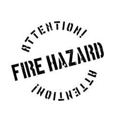 Fire hazard rubber stamp vector