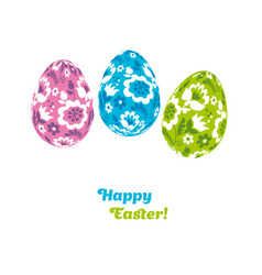easter egg decoration  floral folk-style decor on vector image