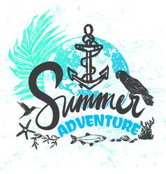 ink hand drawn summer adventure vector image