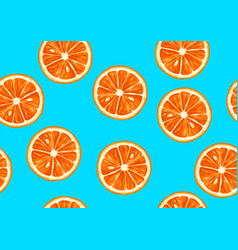Seamless pattern with tropical citrus fruits vector