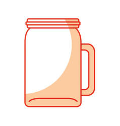 Glass jar picher for drinks vector