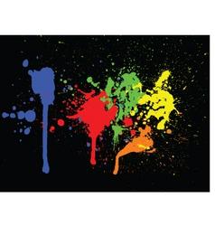 paint splats vector image