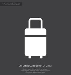 travel bag premium icon white on dark background vector image