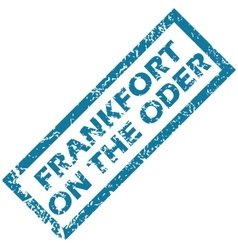 Frankfort on oder rubber stamp vector