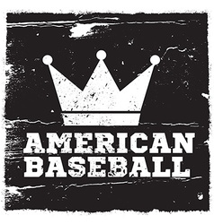 American baseball design vector