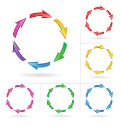 Arrows circle elements vector