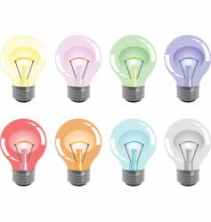 bulbs colors vector image