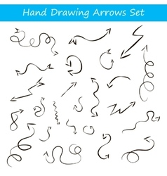 With hand draw arrows set vector
