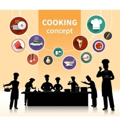 Cooking people concept vector