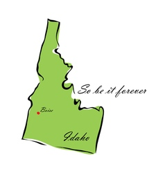 State of idaho vector