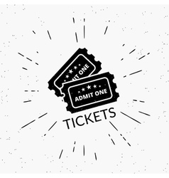 Retro grunge of two black tickets vector