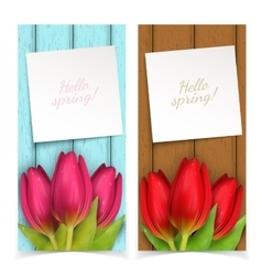Tulip flowers frame composition vector