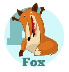 Abc cartoon fox2 vector