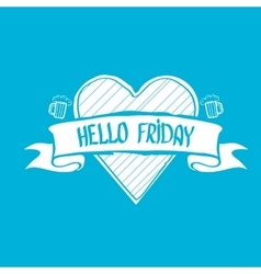 Happy friday background vector