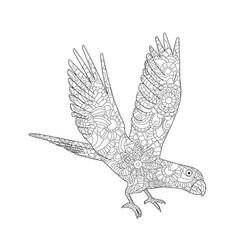 A parrot ara flying vector
