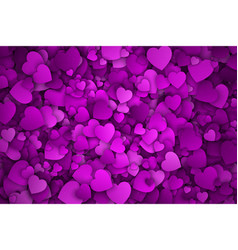 abstract 3d hearts background vector image vector image