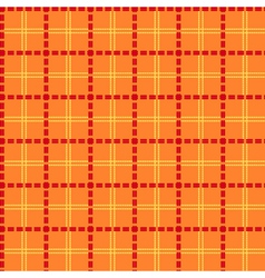 Bright orange seamless mesh pattern vector