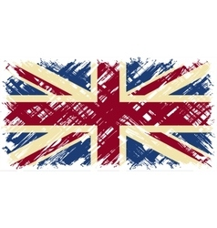British grunge flag vector image vector image