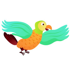 cartoon animal parrot - vector image
