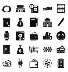 Contribution icons set simple style vector