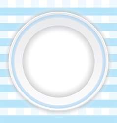 empty dish on the blue pattern background vector image vector image