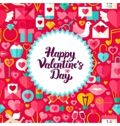 Flat valentines day postcard vector