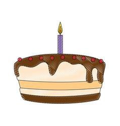 Gateau cake sweet vector