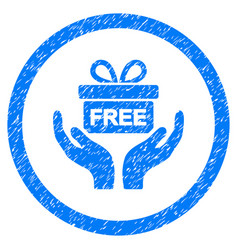 Give present rounded grainy icon vector