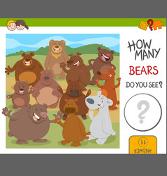 how many bears game vector image vector image