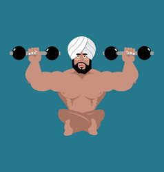 Indian sportsman fitness athlete from india yoga vector