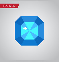 Isolated diamond flat icon brilliant vector