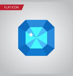 Isolated diamond flat icon brilliant vector