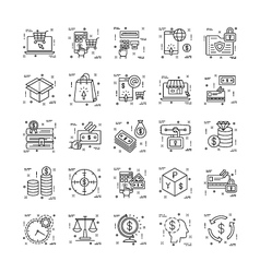 Line Icons With Detail 15 vector image vector image