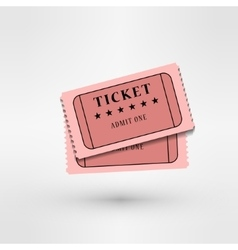 pair of cinema tickets on white vector image