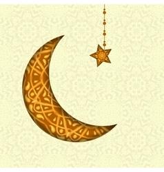 Ramadan kareem greeting design background vector