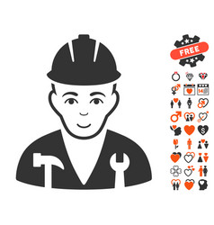 Serviceman icon with dating bonus vector