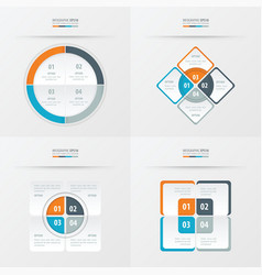 Set of presentation template orange blue gray vector