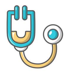 Stethoscope icon cartoon style vector