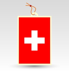 swiss made in tag vector image