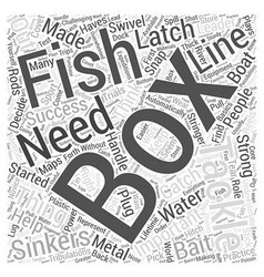 Tackle box must haves word cloud concept vector