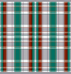 tartan seamless texture in various colors vector image vector image