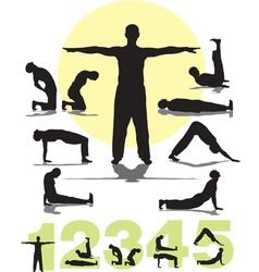 Tibetans yoga vector