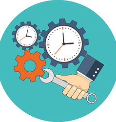Time management concept flat design icon in vector