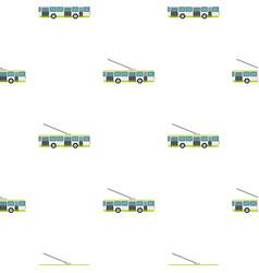 Trolley bus pattern flat vector