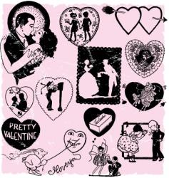 valentines scrapbook vector image vector image
